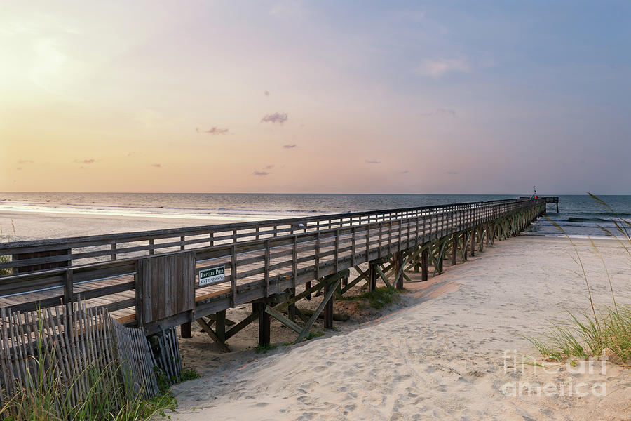 Isle Of Palms Pier Sunrise Photograph