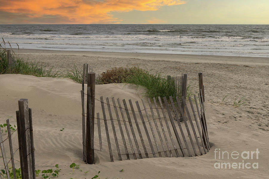 Isle Of Palms Sunet By The Shore Photograph