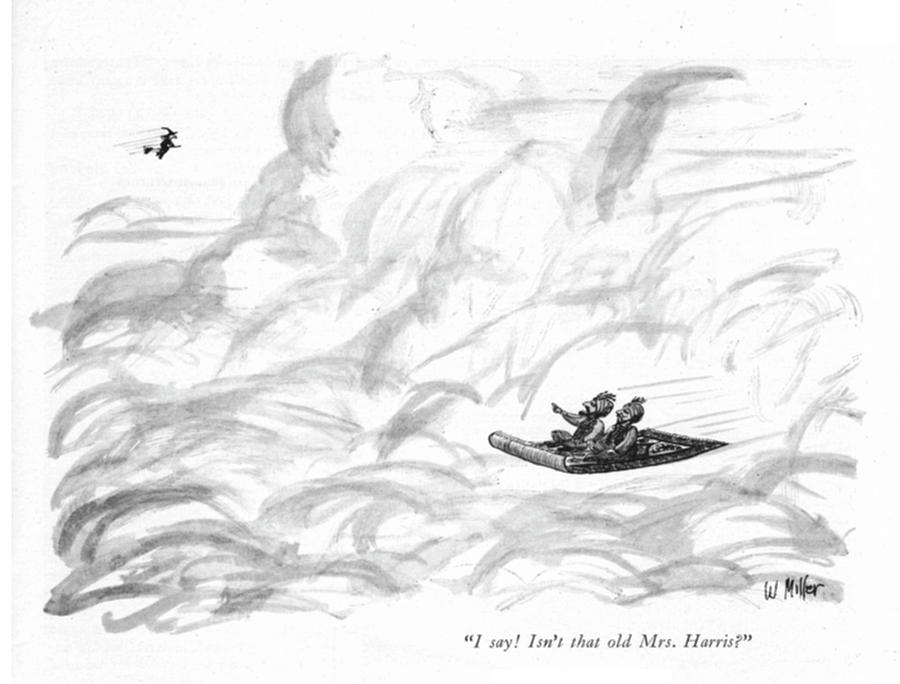 Isnt That Old Mrs Harris? Drawing by Warren Miller