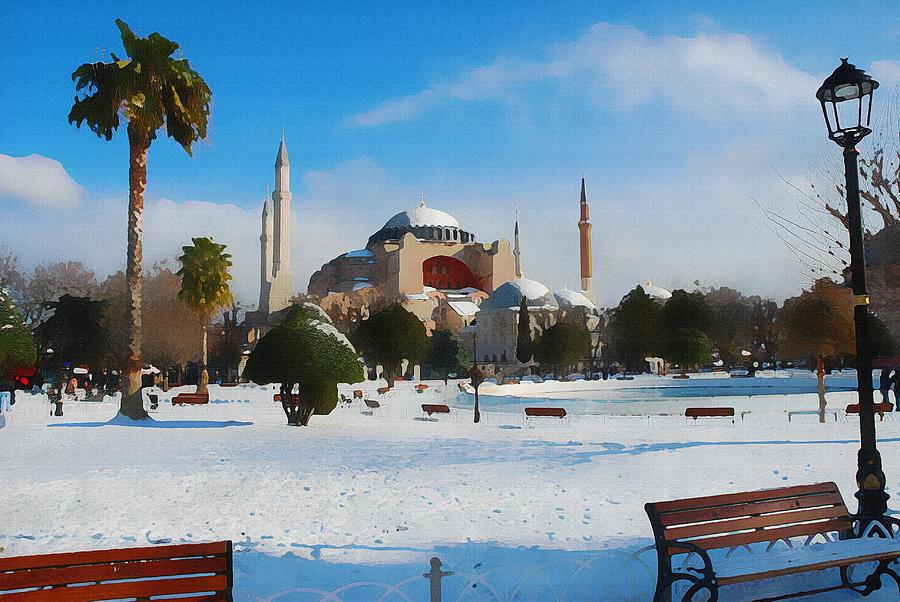 Istanbul 17,  Watercolor By Ahmet Asar Digital Art