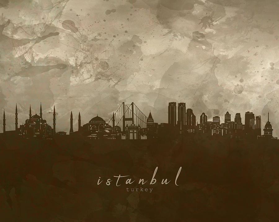 Istanbul Skyline Panorama 4 Digital Art