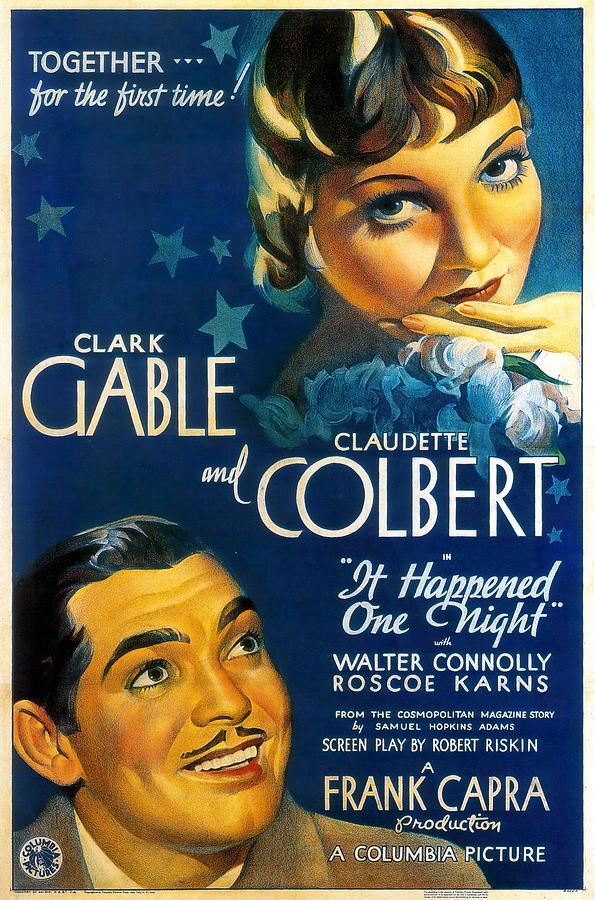 it Happened One Night, 1934 - B Mixed Media