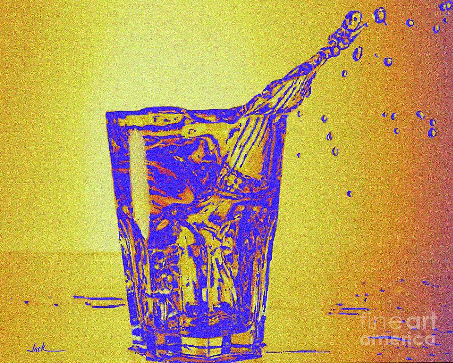 Alcohol Painting - It is 5 somewhere  by Jack Bunds