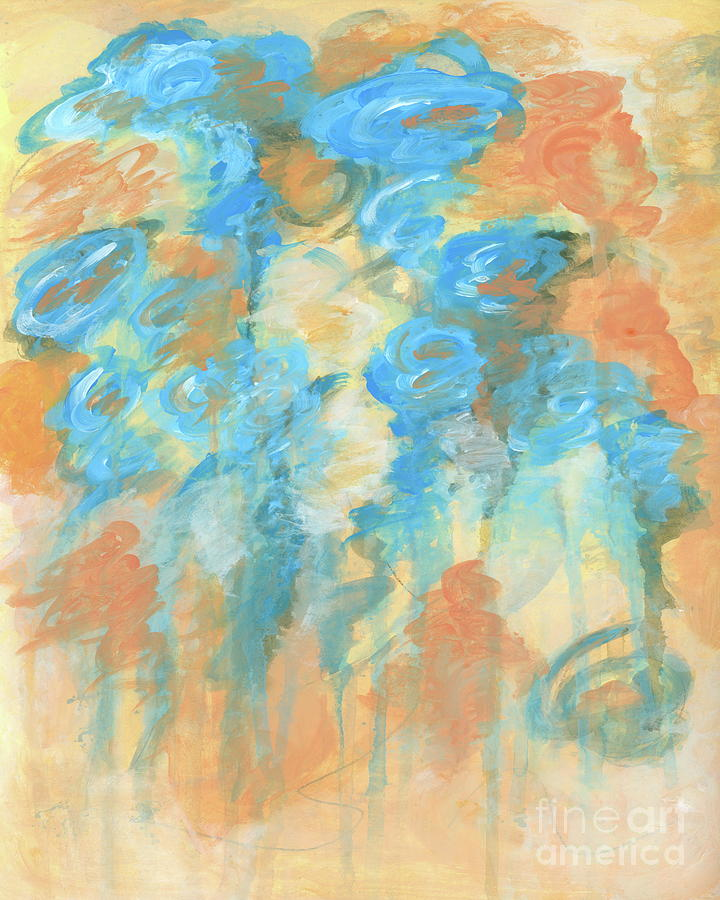 It Is Well Painting - It is Well, Abstract Floral Painting by Itaya Lightbourne