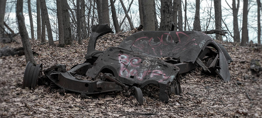 It just needs a little work - Rusted out old car frome from the  by Kyle Lee
