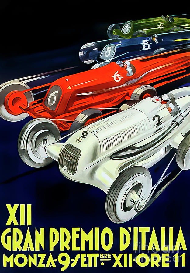 Italy 1934 Grand Prix By Todognato Drawing