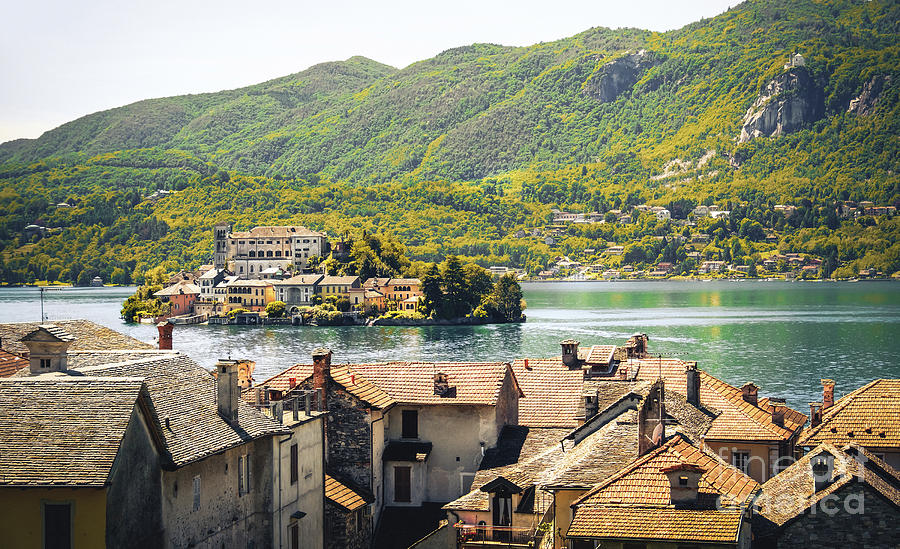 Italy lake orta Novara province Piedmont region antique effect by Luca Lorenzelli