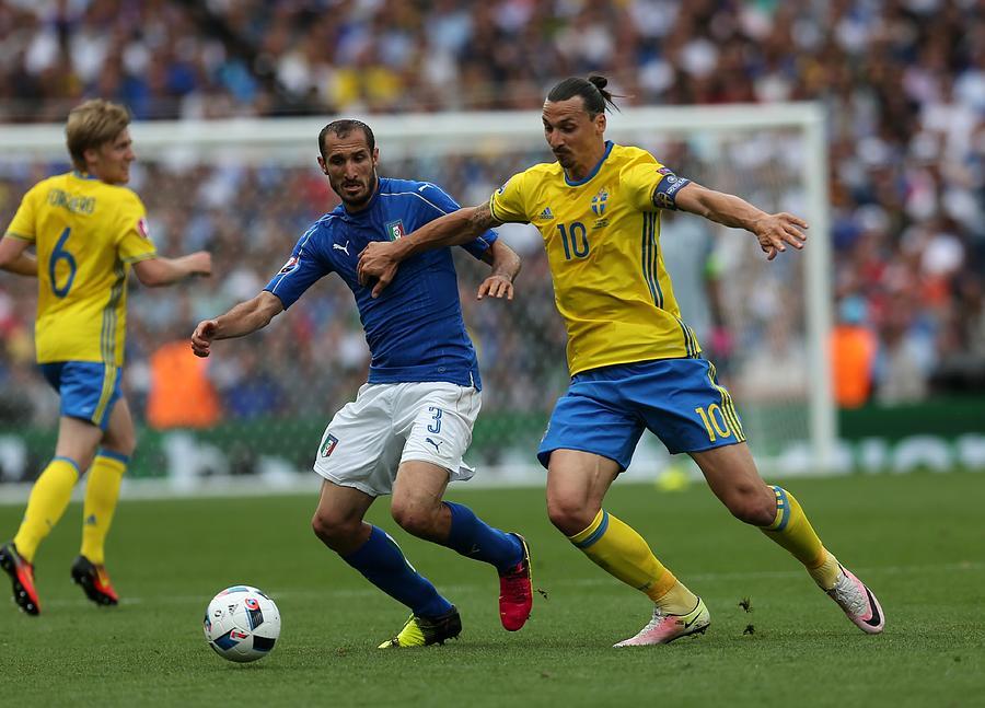 Italy v Sweden - Euro 2016 Photograph by Anadolu Agency