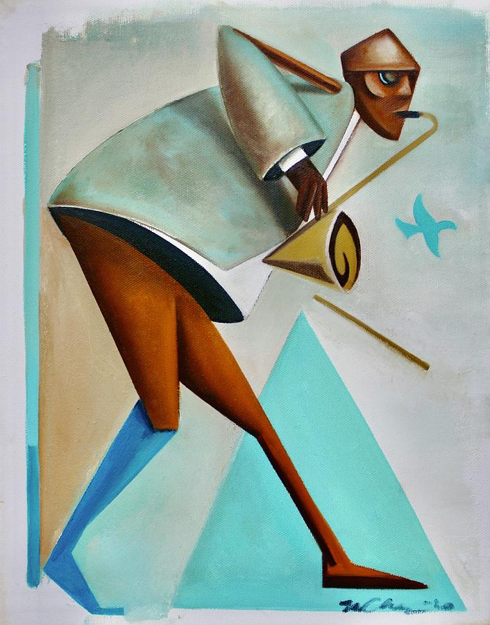 Jazz Painting - Its A Bird by Martel Chapman
