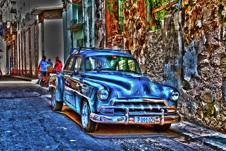 Cuba Photograph - Its A Blue Car by Randi Grace Nilsberg