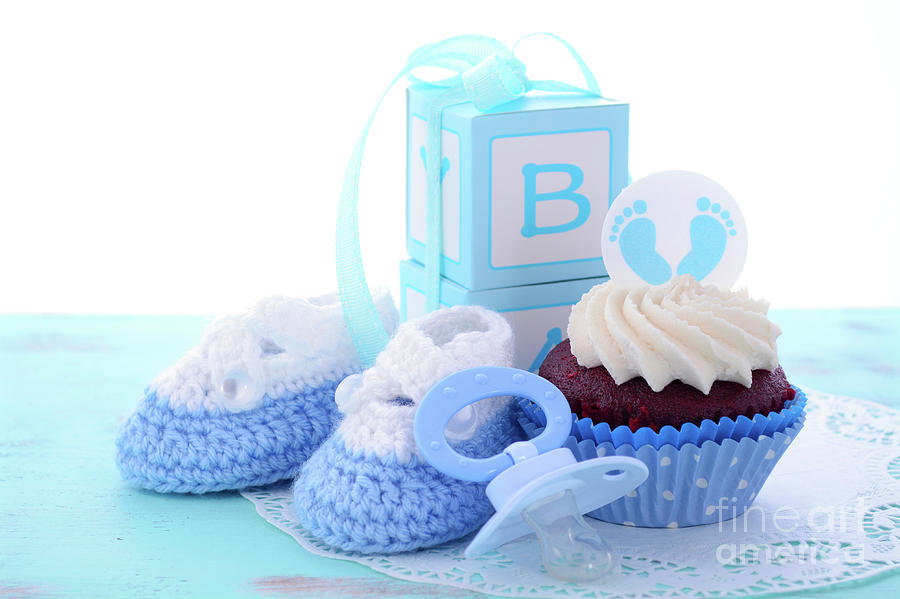Wonderlijk Its a Boy Blue Baby Shower Cupcakes Photograph by Milleflore Images KD-51
