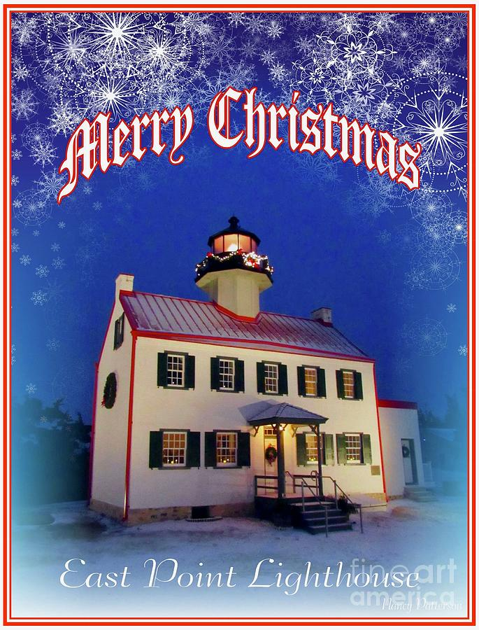It's a Merry Christmas at East Point Lighthouse by Nancy Patterson