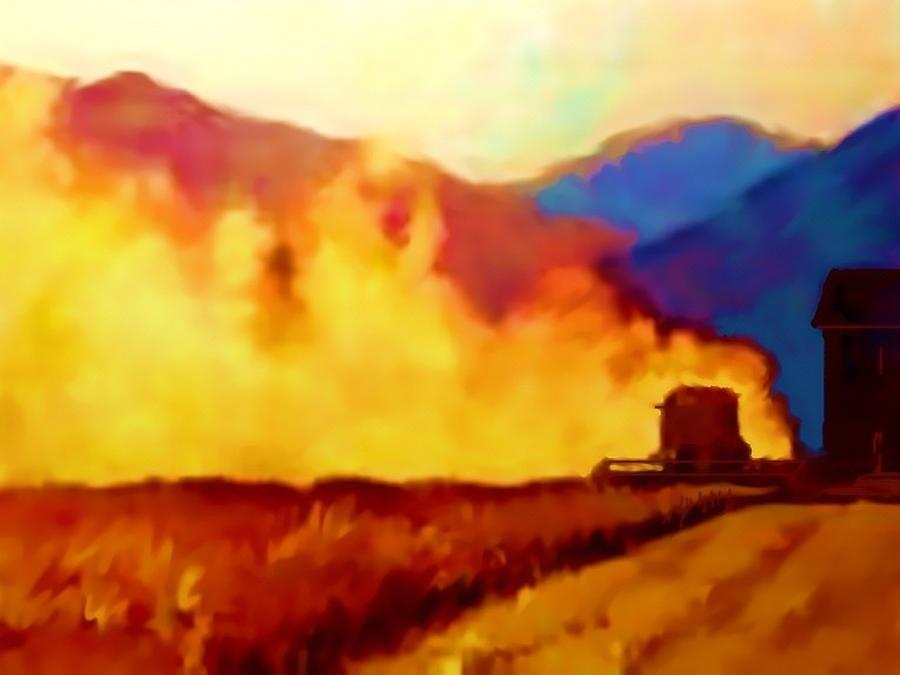 Its Harvest Time Painting by Joseph Barani