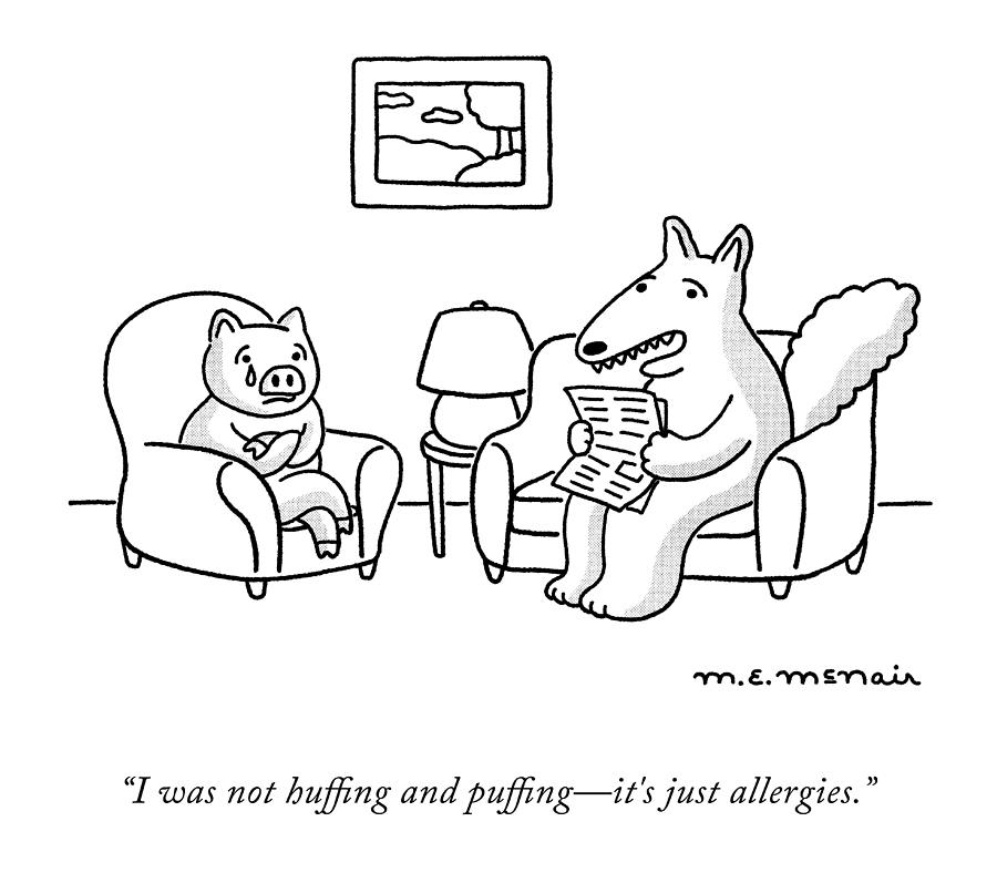 Its Just Allergies Drawing by Elisabeth McNair