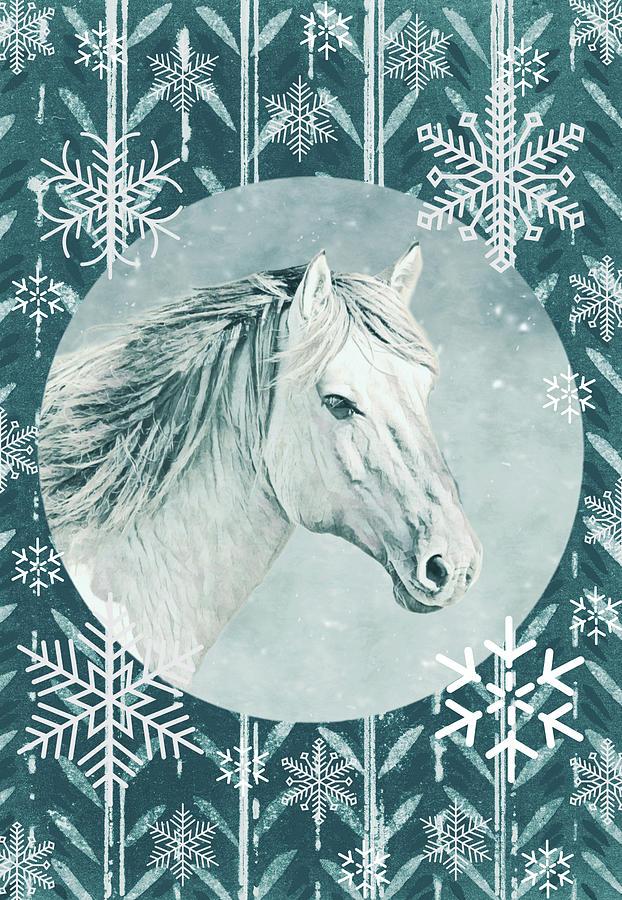 Its Snow Doubt A Christmas Horse Digital Art