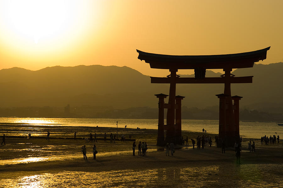 Sunset Photograph - Itsukushima Shinto Shrine by Sebastian Musial