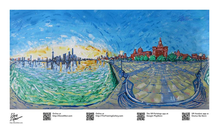 Shanghai Bund Painting - iurnal Heartbeat, Shanghai, 01 by Dave Alber
