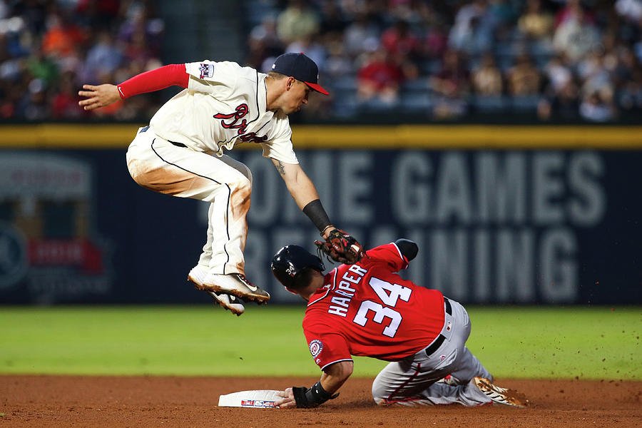 Jace Peterson and Bryce Harper Photograph by Kevin Liles
