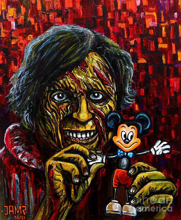 An American Werewolf In London Painting - Jack An American Werewolf by Jose Mendez