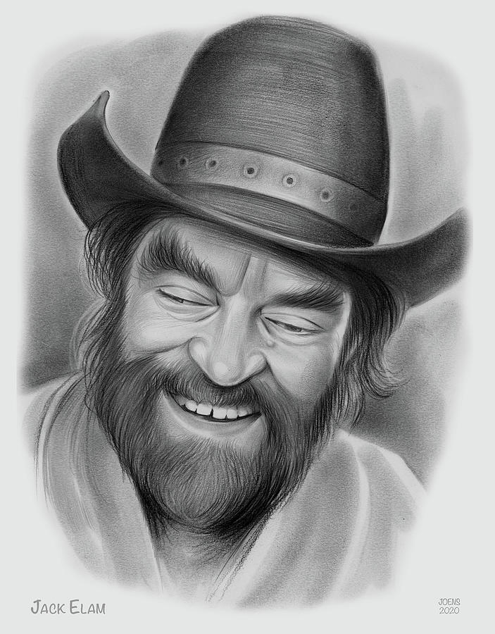 Jack Elam - Pencil Drawing
