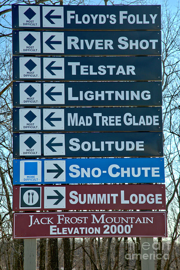 Jack Frost Ski Signs by Adam Jewell