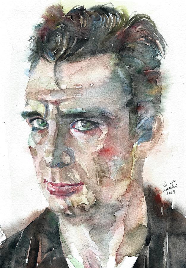 JACK KEROUAC - watercolor portrait.8 by Fabrizio Cassetta