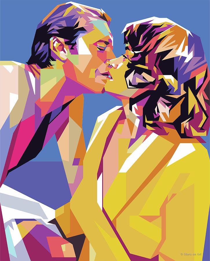 Jack Nicholson And Maria Schneider Digital Art