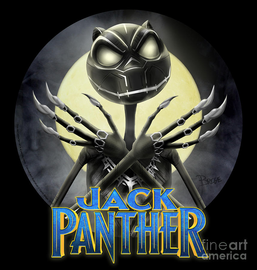 Jack Drawing - Jack Panther by Darrin Brege