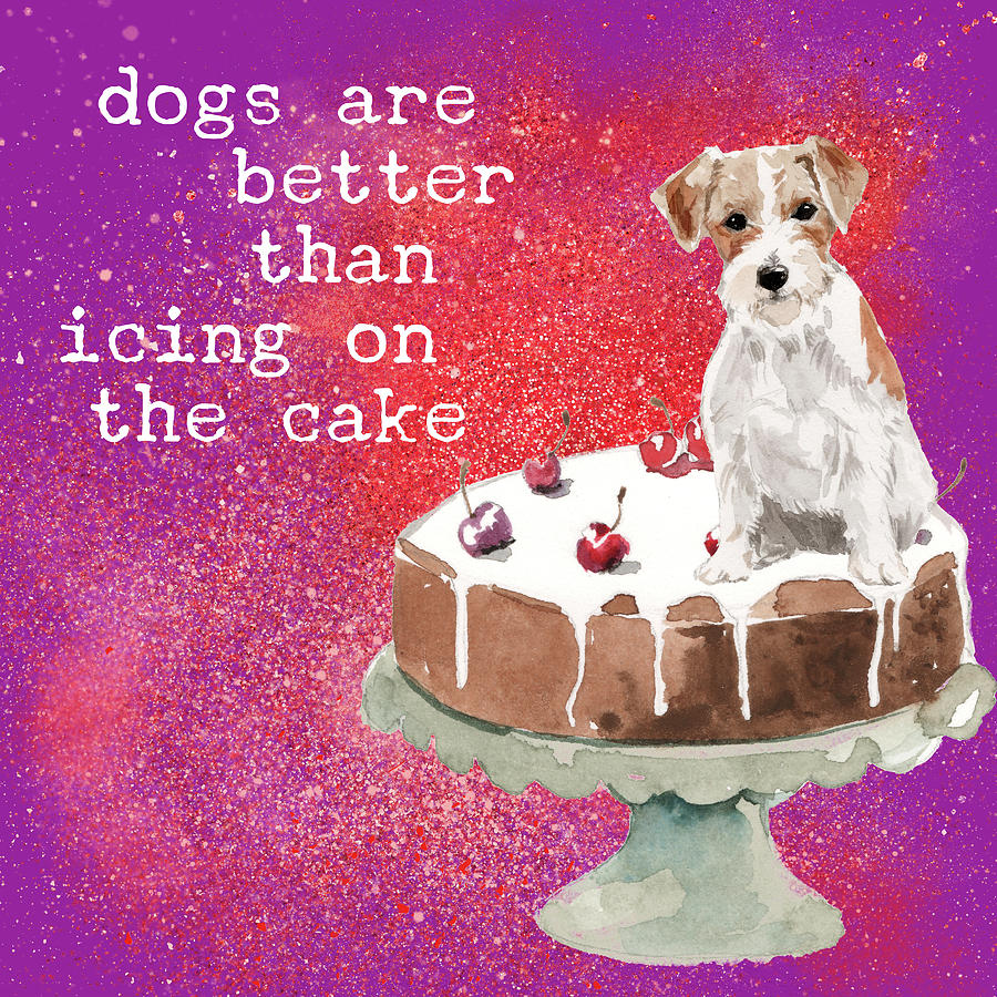 Jack Russell Takes The Cake Mixed Media