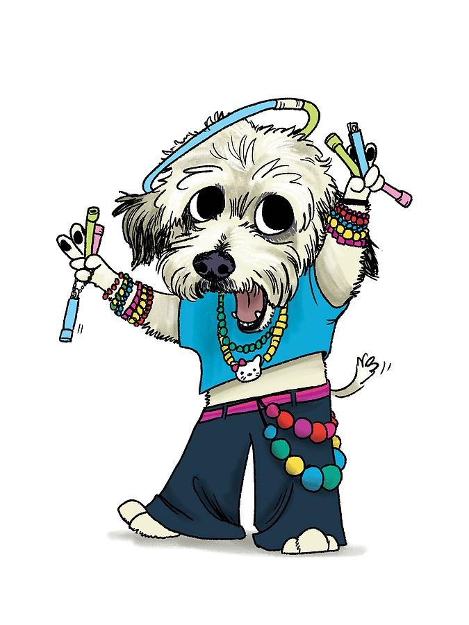Edm Drawing - Jack the Raver by Claire DeWilde