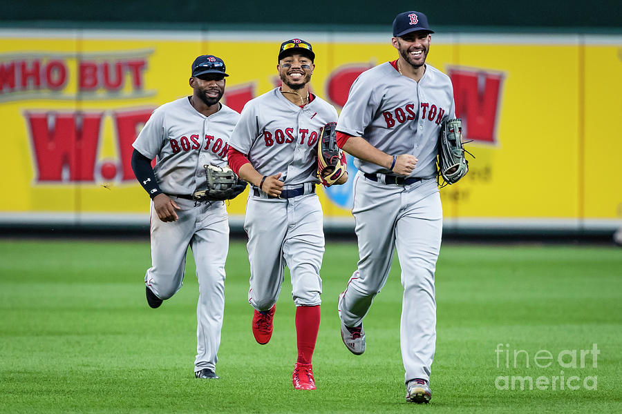 Jackie Bradley and Mookie Betts Photograph by Scott Taetsch