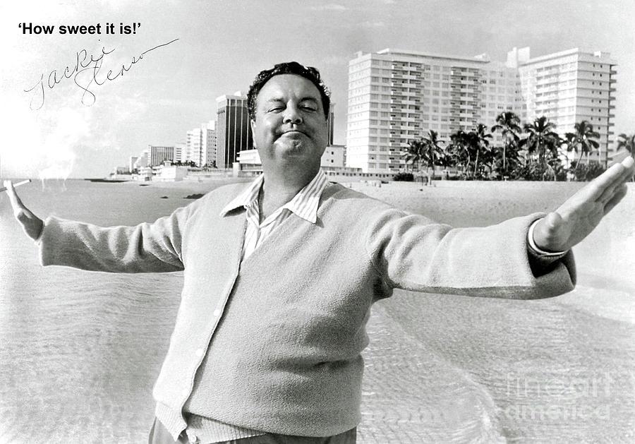 Jackie Gleason Photograph - Jackie Gleason, how sweet it is, Miami Beach, FL by Thomas Pollart