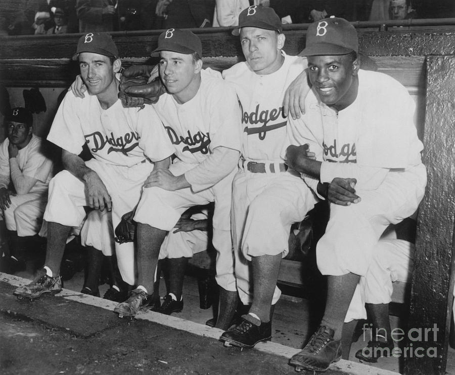 Jackie Robinson and Pee Wee Reese Photograph by National Baseball Hall Of Fame Library