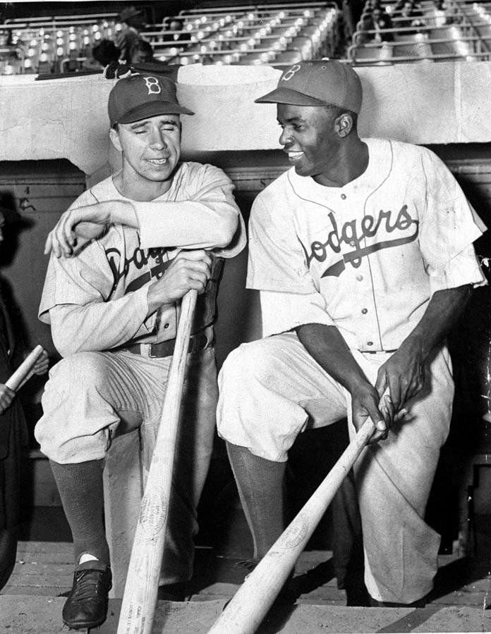 Jackie Robinson And Pee Wee Reese Photograph by New York Daily News Archive