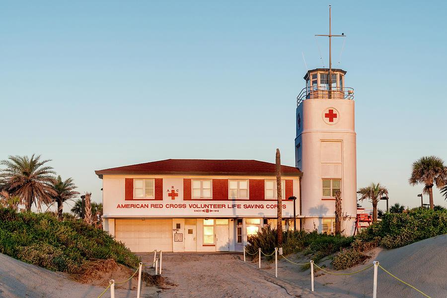 Jacksonville Beach Lifeguard Station, Florida by Dawna Moore Photography