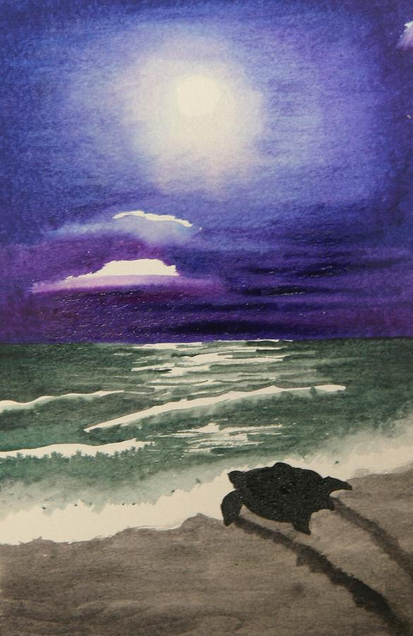 Jaco Sea Turtle Rescue Painting by Madeline Dillner
