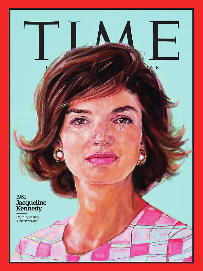 Time Photograph - Jacqueline Kennedy, 1962 by Painting by Shana Wilson for TIME