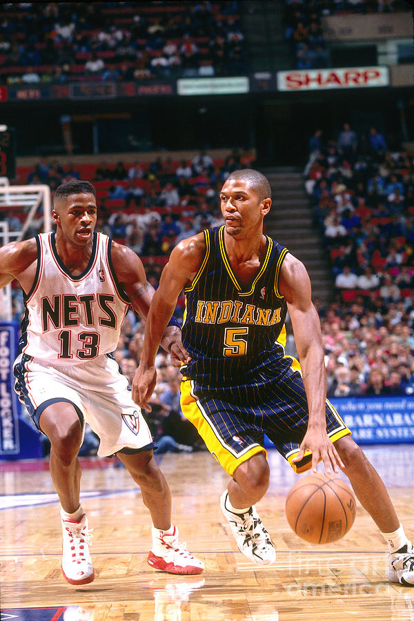 Jalen Rose and Kendall Gill Photograph by Chuck Solomon