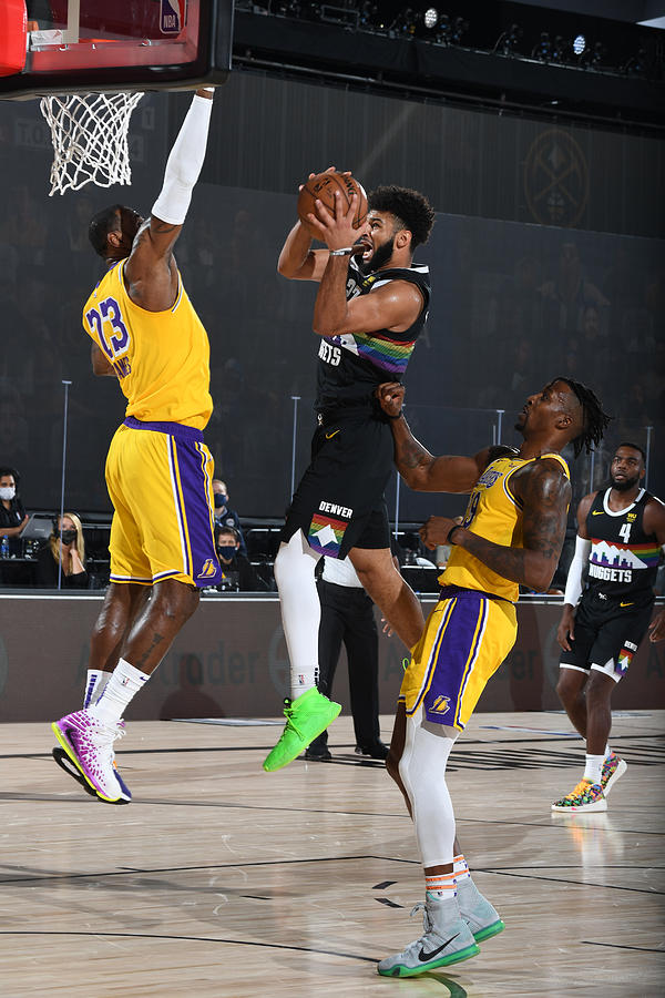 Jamal Murray and Lebron James Photograph by Andrew D. Bernstein