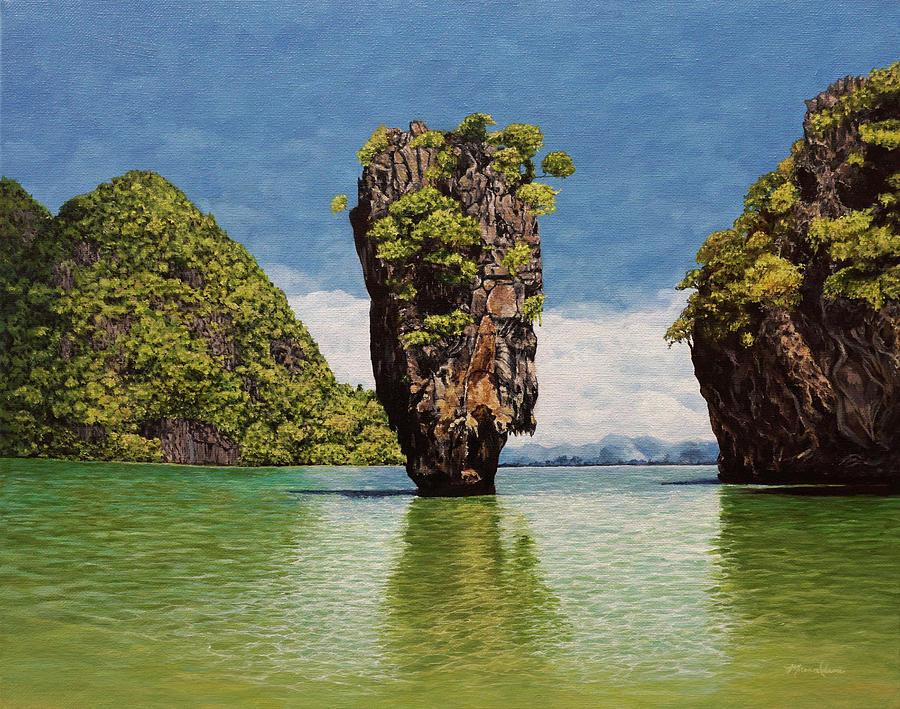 Paradise Painting - James Bond Island by Morgan Adams