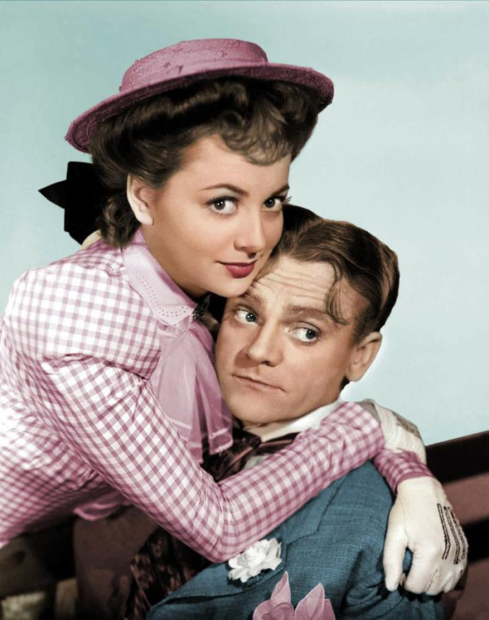 James Cagney And Olivia De Havilland Photograph