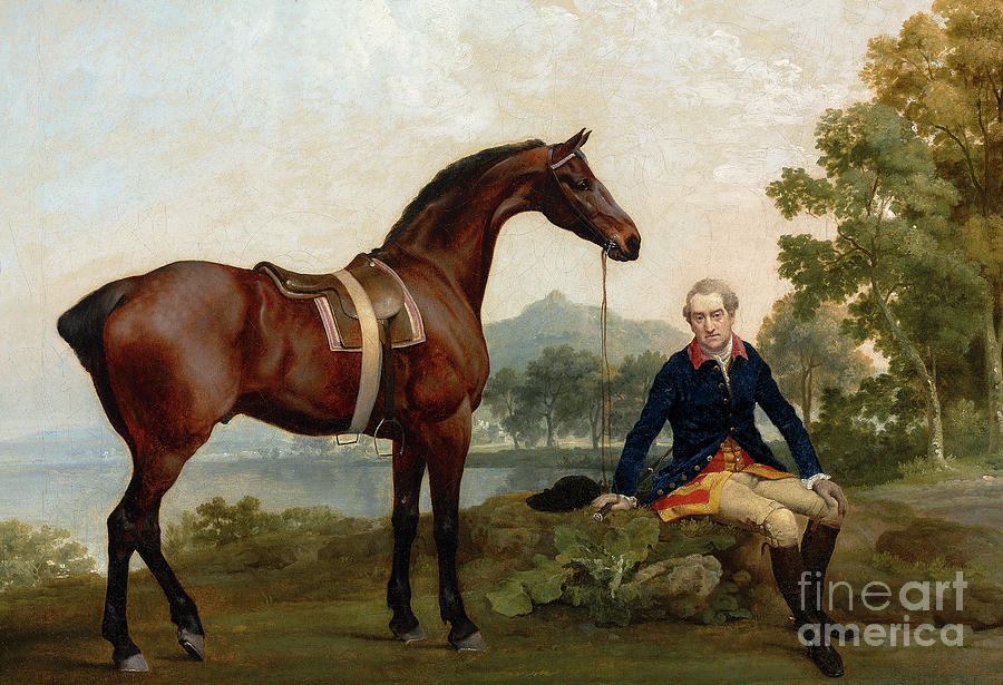 James Hamilton, 2nd Earl of Clanbrassil, with his bay hunter Mowbray by George Stubbs