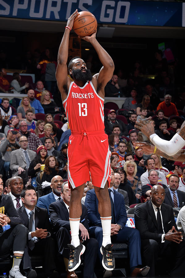 James Harden Photograph by David Liam Kyle