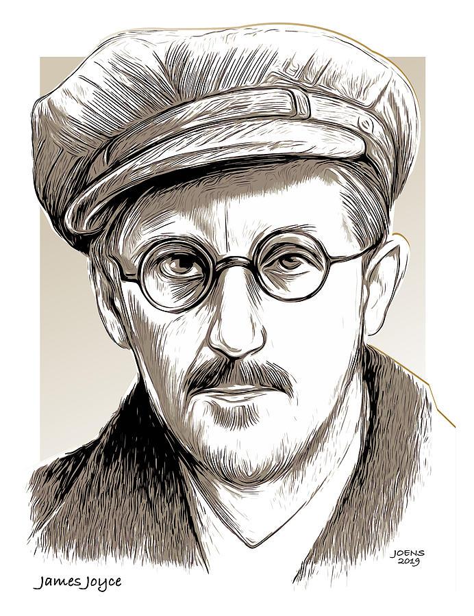 James Joyce Drawing