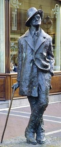 James Joyce in Grafton st, Dublin by Val Byrne