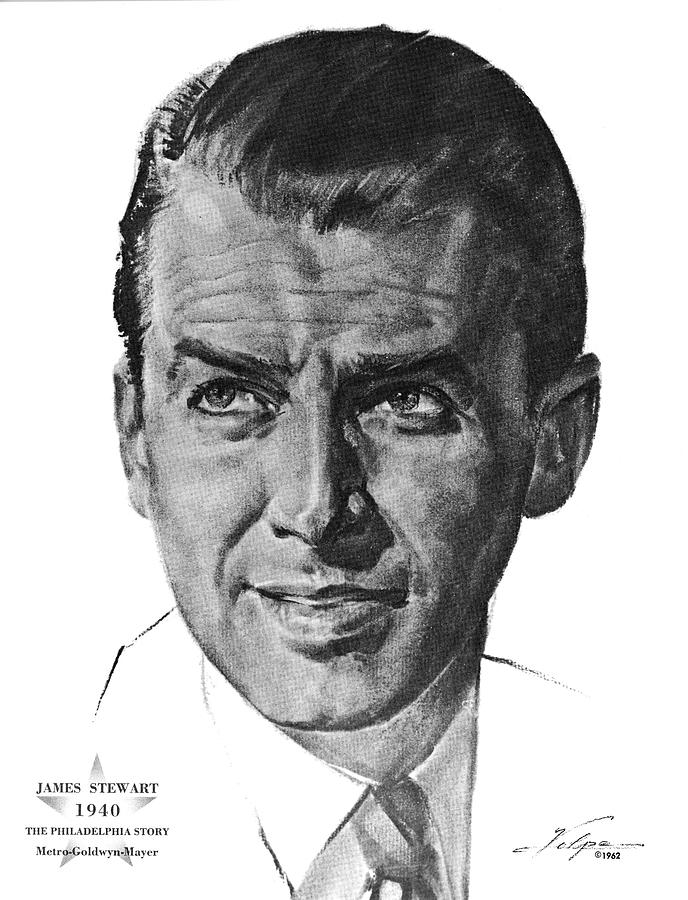 James Stewart By Volpe Drawing