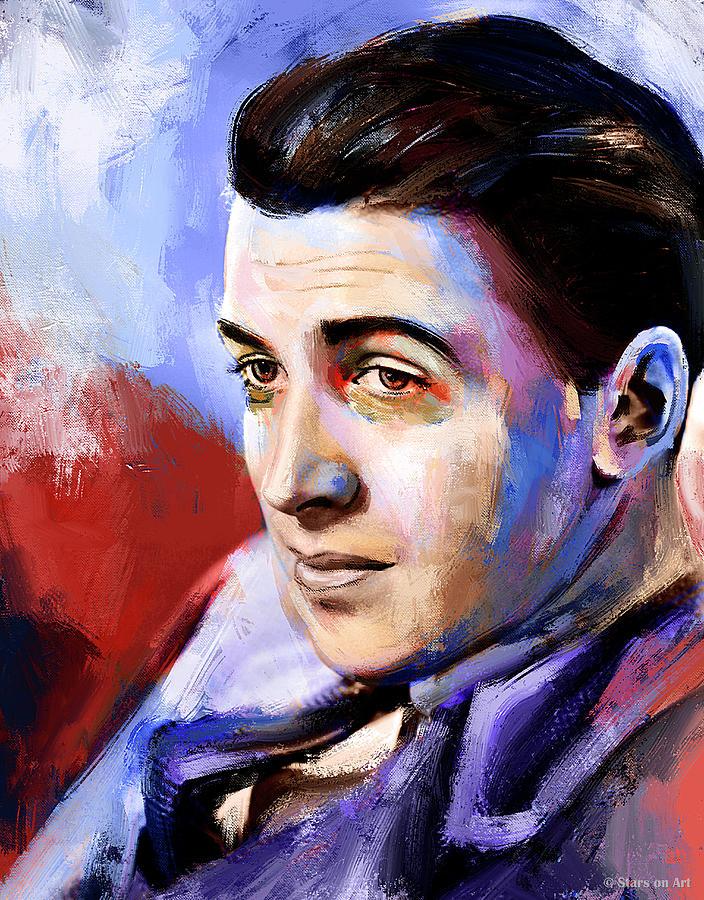 James Stewart Portrait Painting