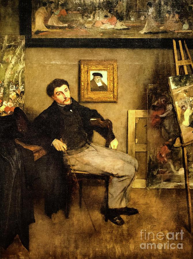 James Tissot by Degas by Edgar Degas