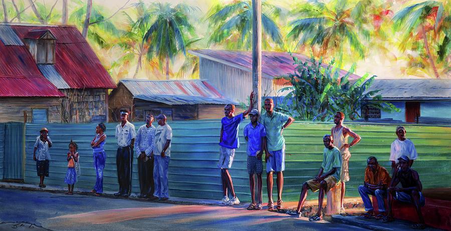 Saint Lucia Painting - Jan Labowi by Jonathan Gladding