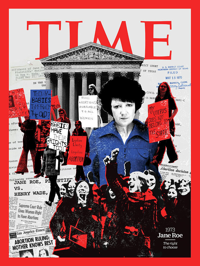 Time Photograph - Jane Roe, 1973 by Illustration by Joe Magee for TIME
